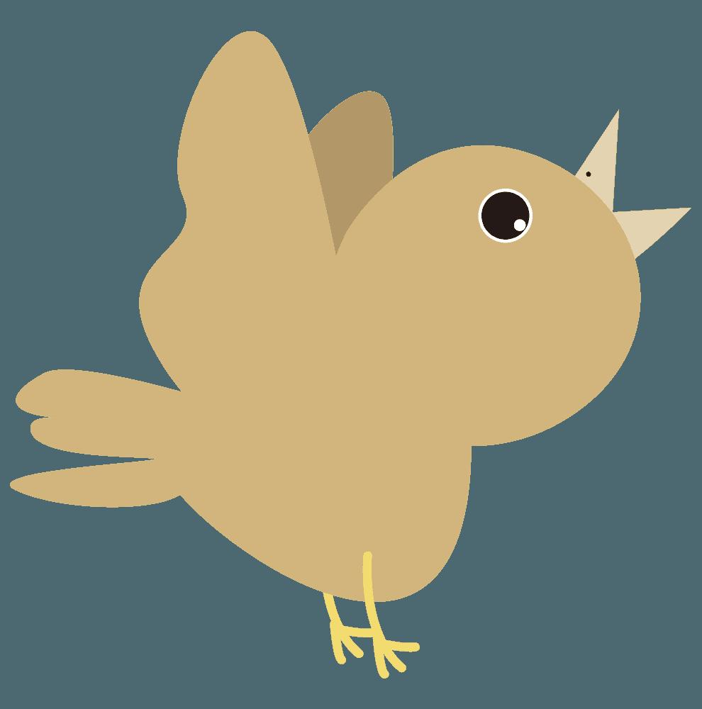 可愛い鳩の雛のイラスト