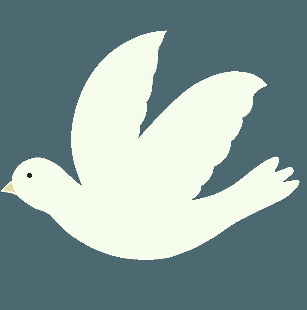 空を飛ぶ鳩イラスト