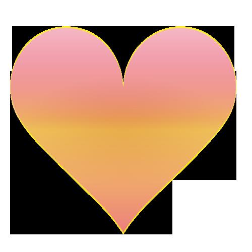 ピンクと黄色のハート