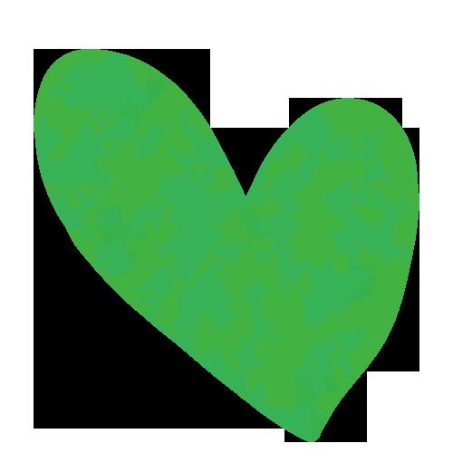 緑色の可愛いハート