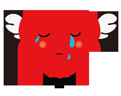 泣いているハート