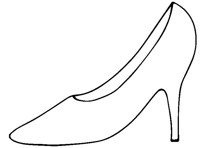 線のハイヒールのイラスト