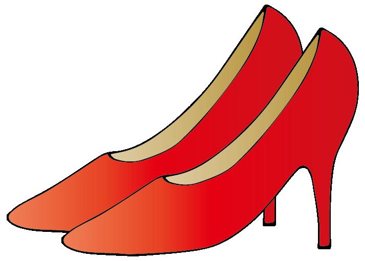 赤のハイヒールのイラスト
