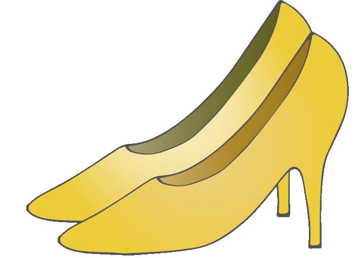 黄色のハイヒールのイラスト