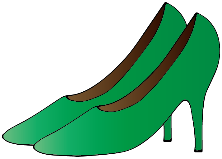 緑のハイヒールのイラスト