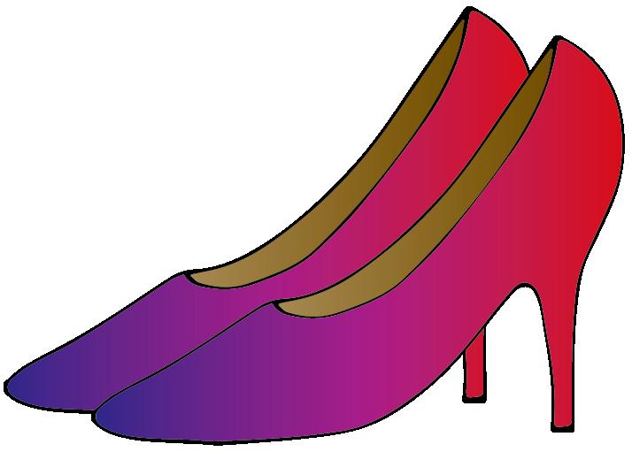 紫のハイヒールのイラスト