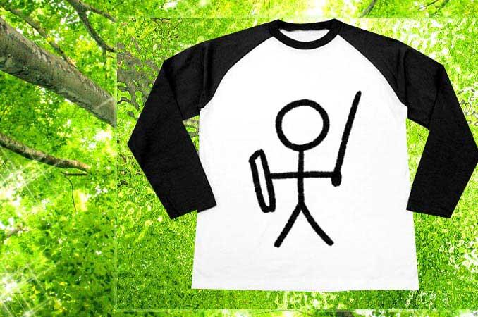 勇者の棒人間Tシャツ