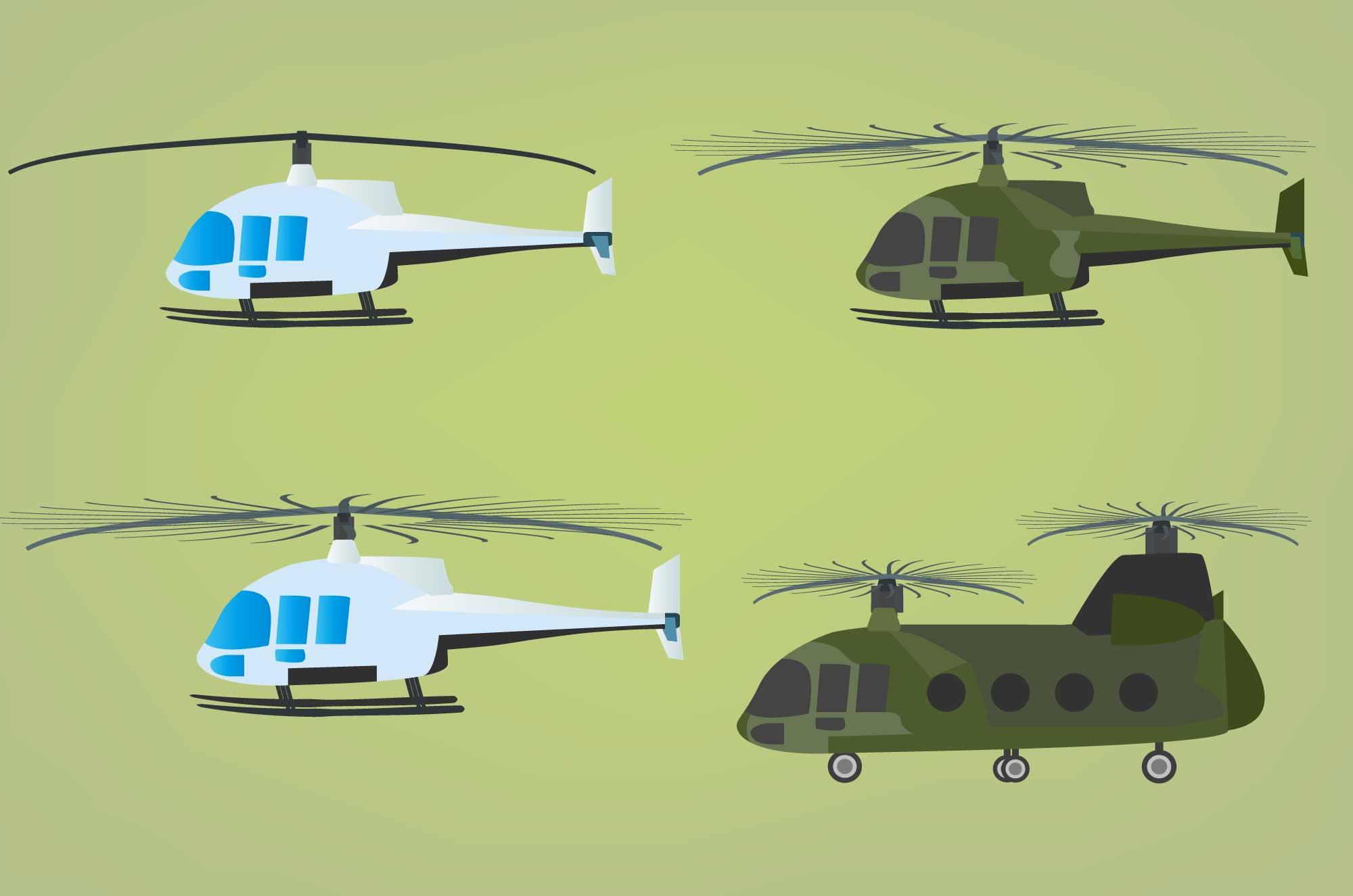 ヘリコプターの無料イラスト - 空の乗り物フリー素材
