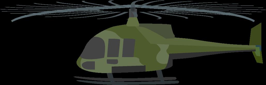軍用のヘリコプターのイラスト