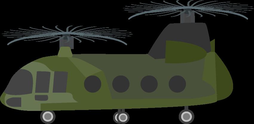 輸送のヘリコプターのイラスト