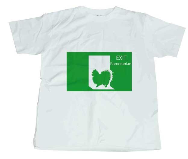 非常口ポメラニアンTシャツ