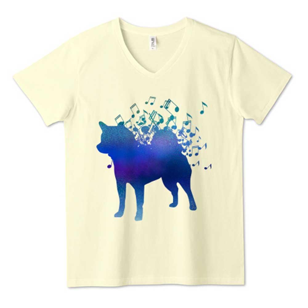 音符グラデ柴犬Tシャツ