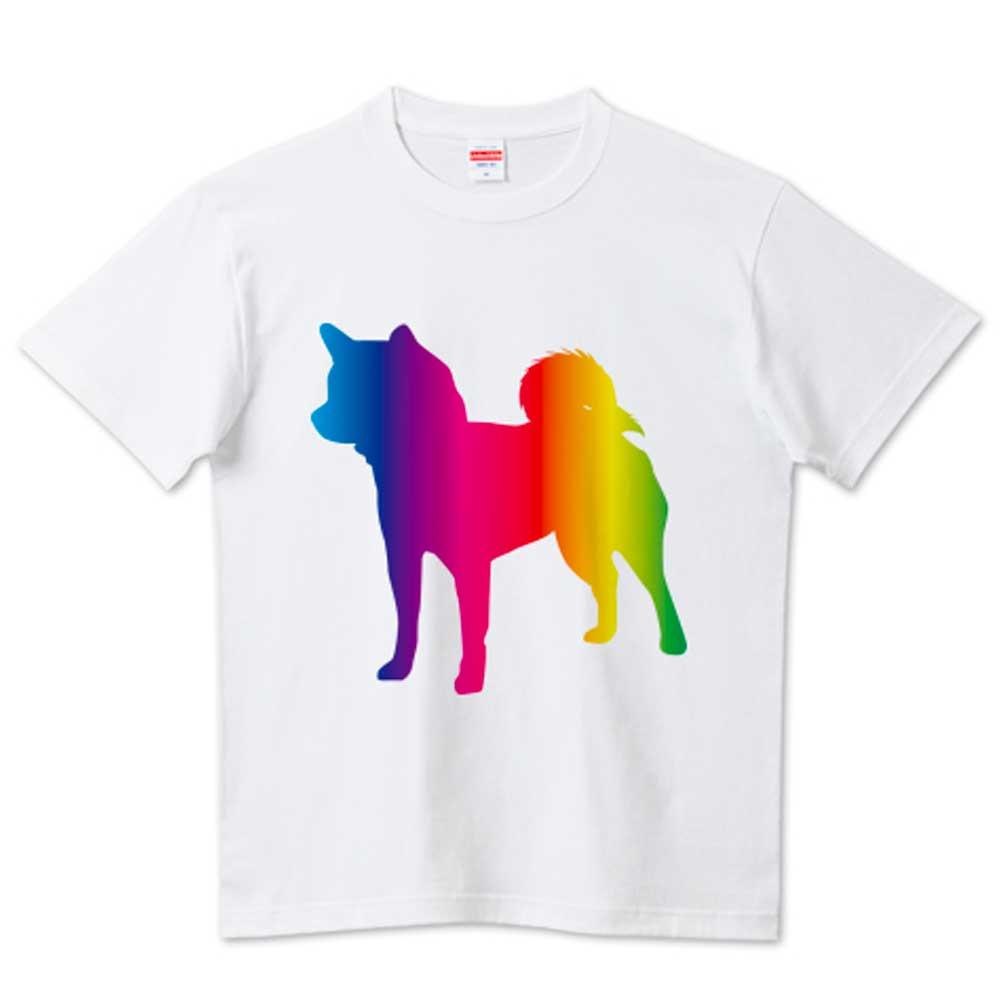 スペクトル柴犬Tシャツ