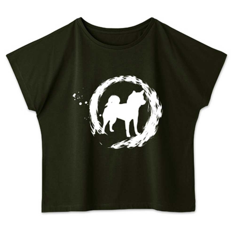 丸柴犬和風Tシャツ