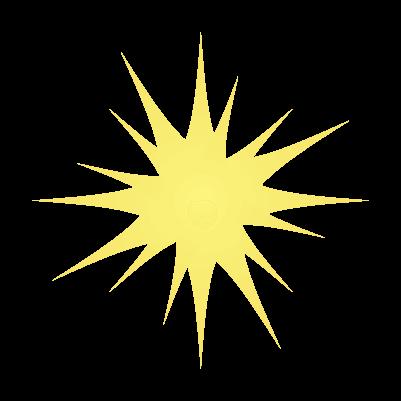 シンプルな光のイラスト6