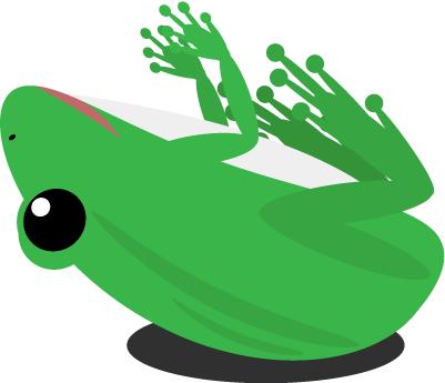 ひっくりカエル