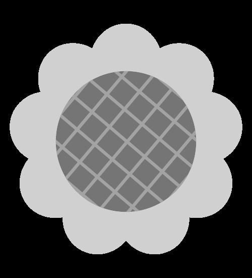 白黒ひまわりのイラスト2