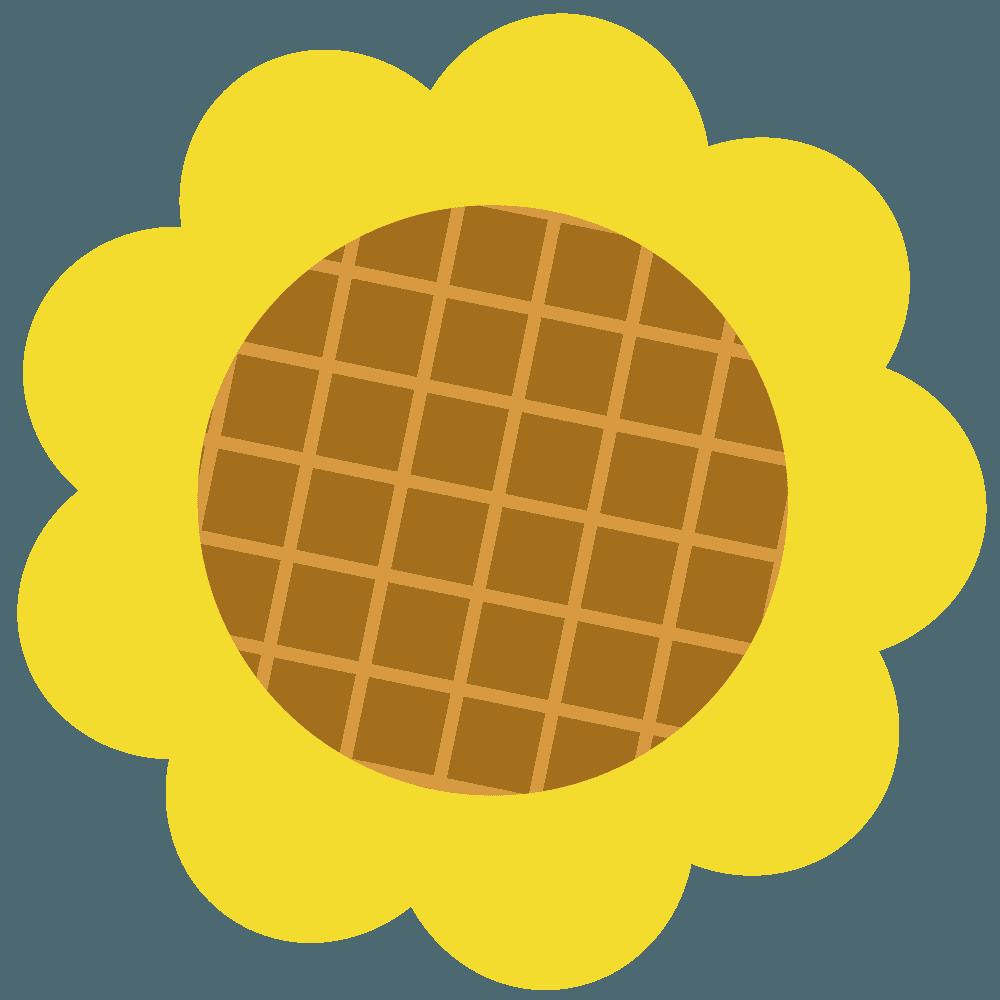 ミニヒマワリの花イラスト