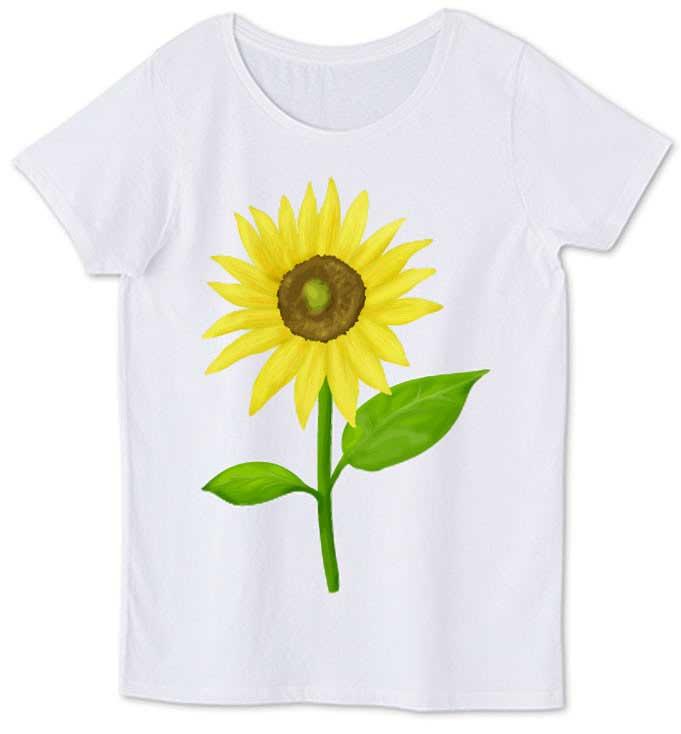ひまわりレディースTシャツ