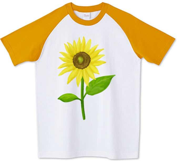 ひまわりラグランTシャツ