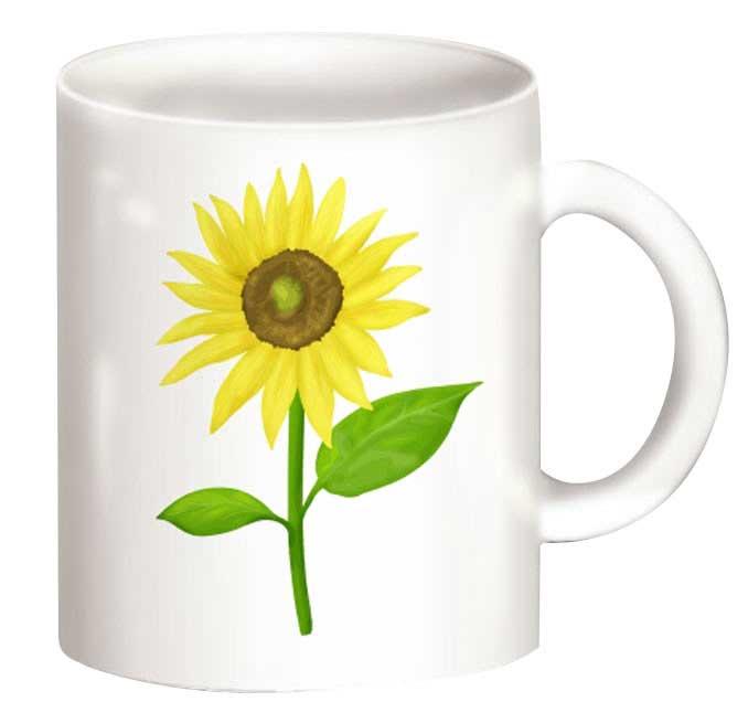 ひまわりのマグカップ