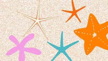ヒトデイラスト - 可愛い海の星形生物フリー素材