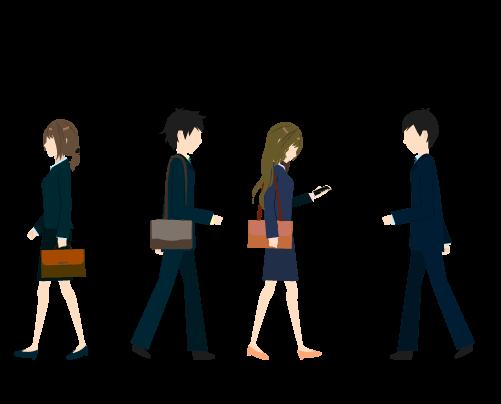 人混みのイラスト2