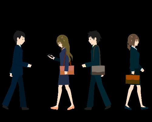 人混みのイラスト3