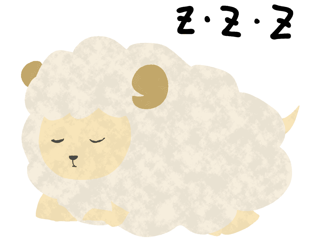 寝ているひつじイラスト