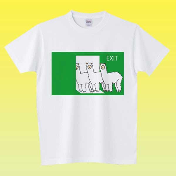 非常口Tシャツ - 面白いシルエットのデザイングッズ