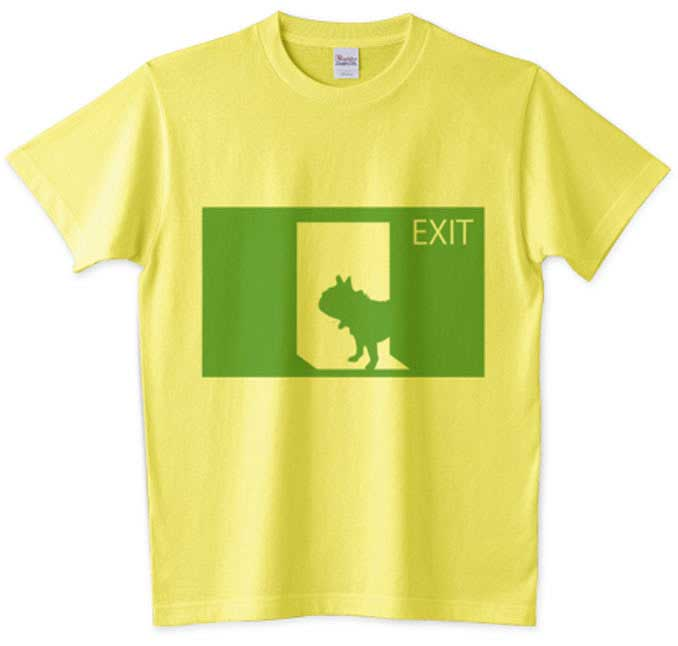 フレンチブルドッグの非常口Tシャツ