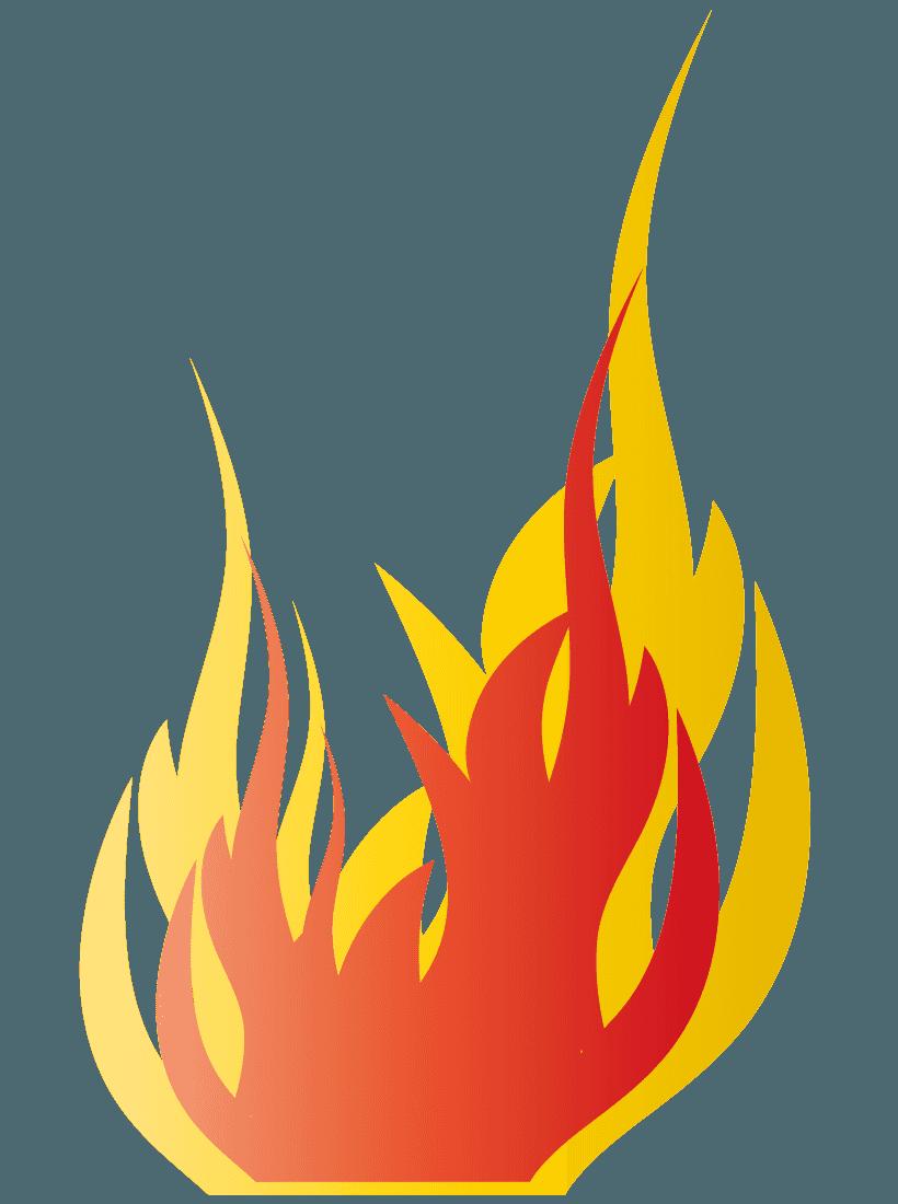炎イラスト 燃え盛る灼熱イメージの火の無料素材 チコデザ