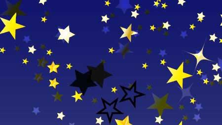 星イラスト - キラキラ光る空の装飾デザイン素材集