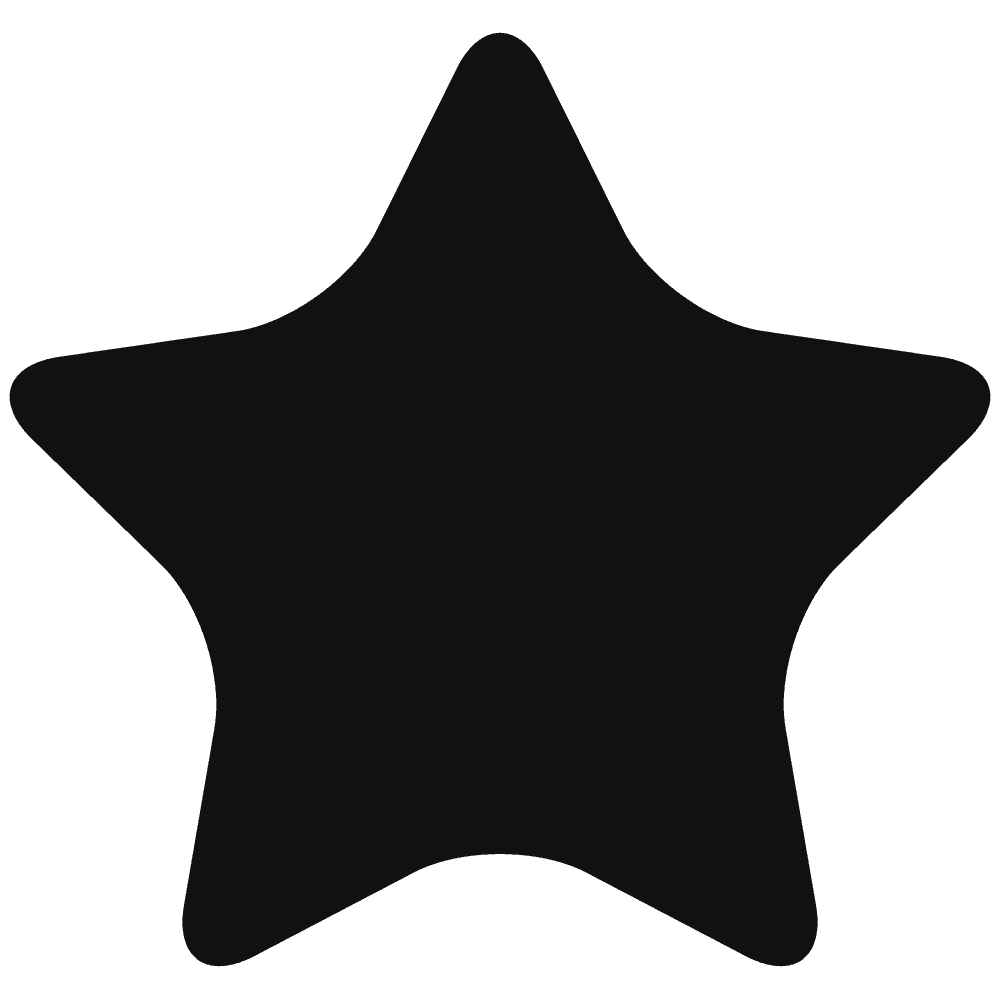 角丸の星黒星イラスト