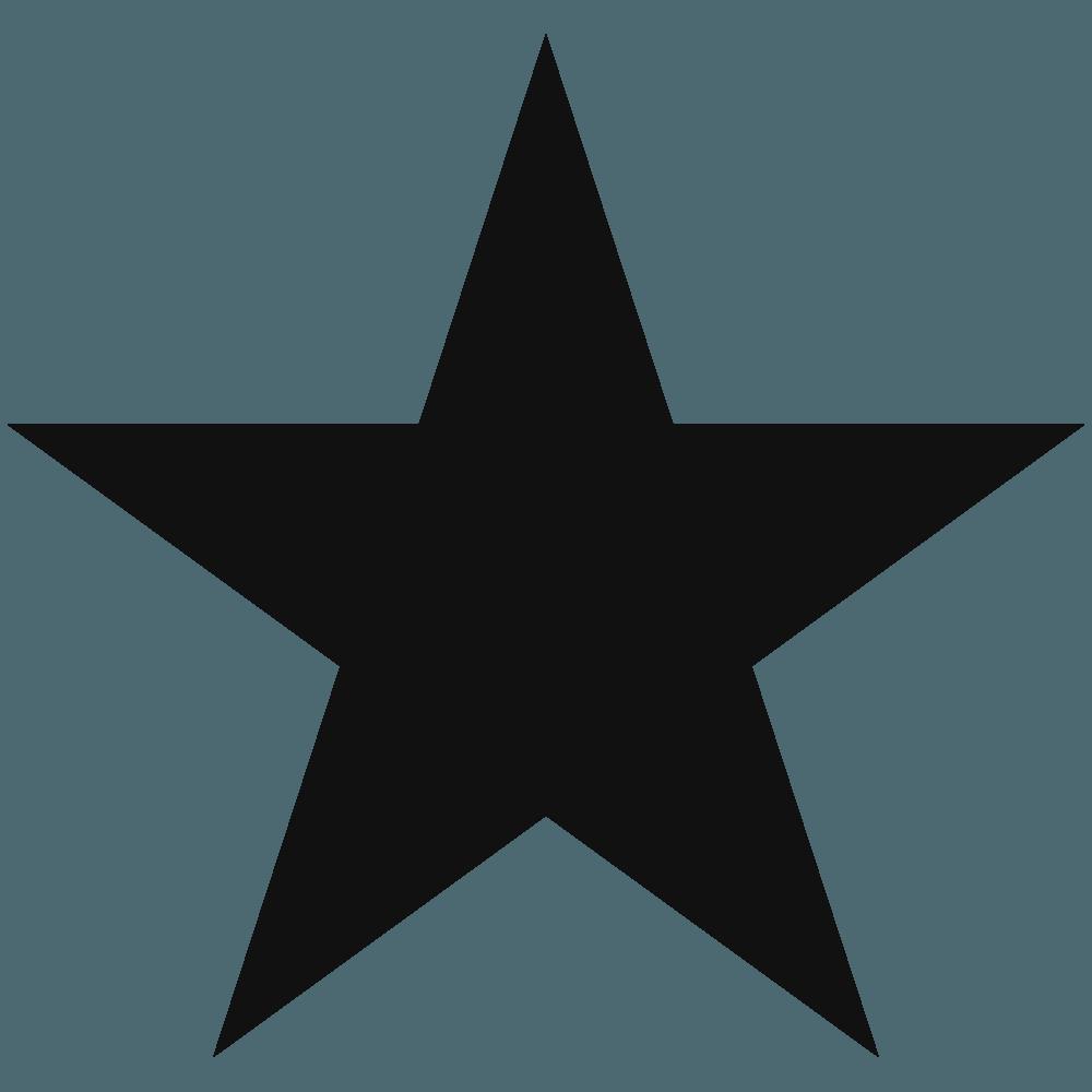 尖った黒い星イラスト