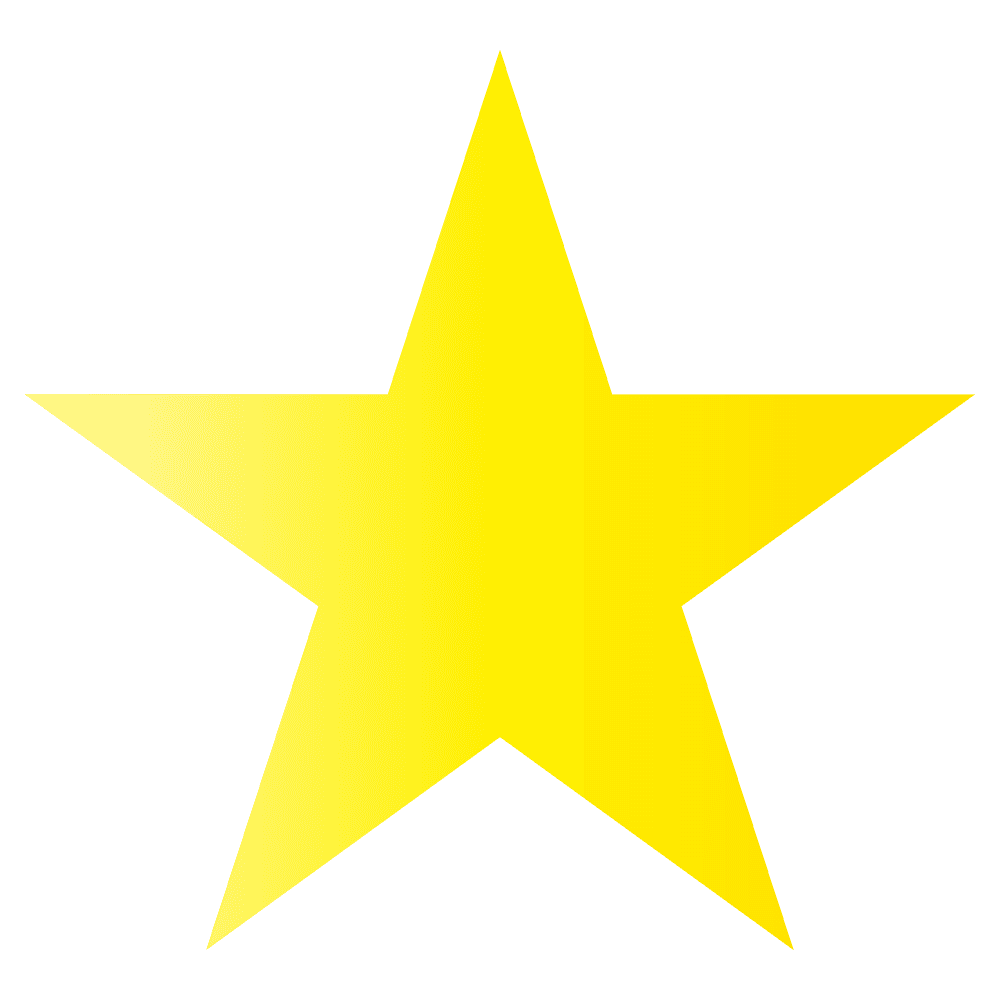 黄色いとがった星マークイラスト