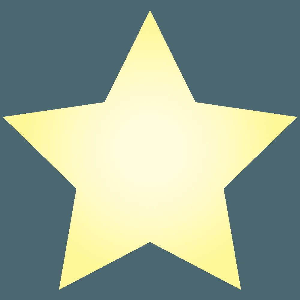 うすい黄色の星イラスト