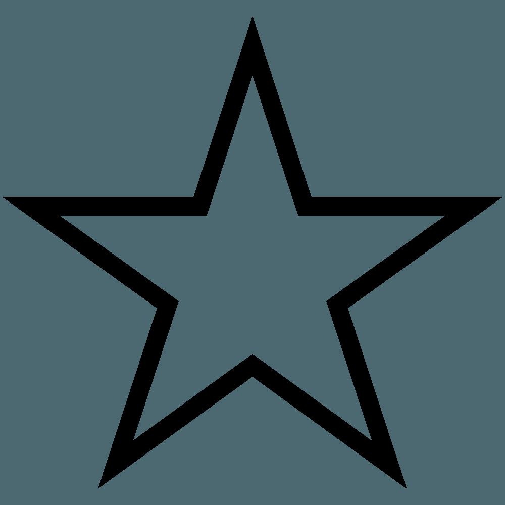 線だけの星イラスト