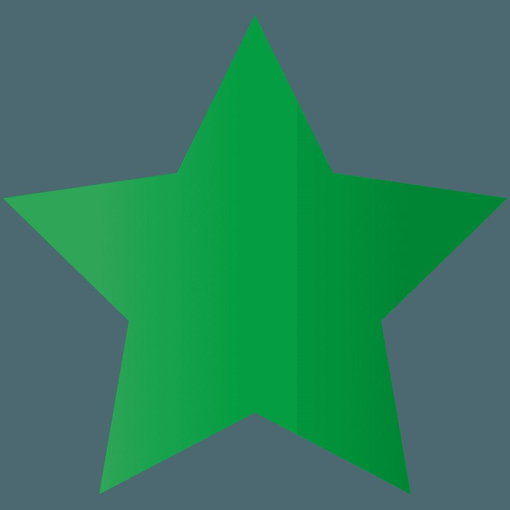 緑色の星イラスト