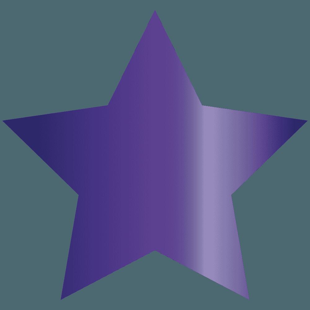 紫色の星イラスト