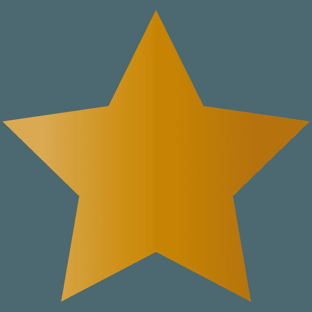 茶色の星イラスト