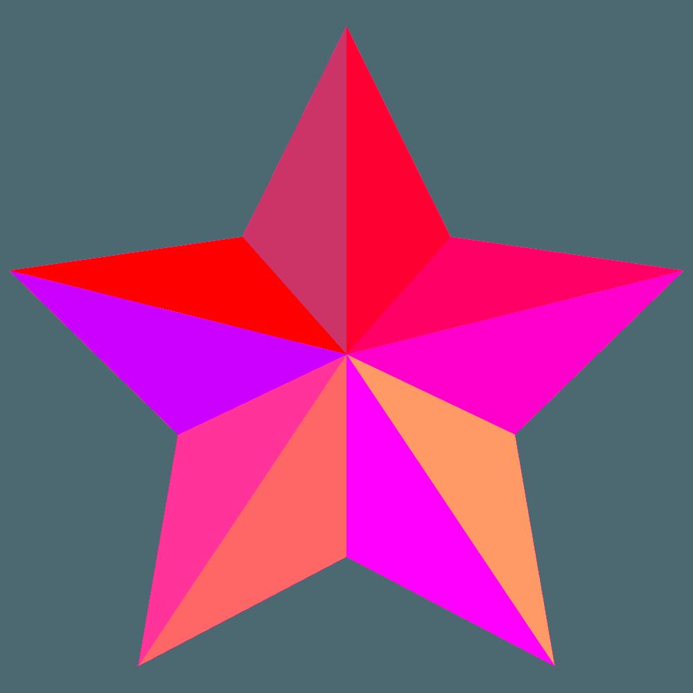 赤いかっこいい星イラスト