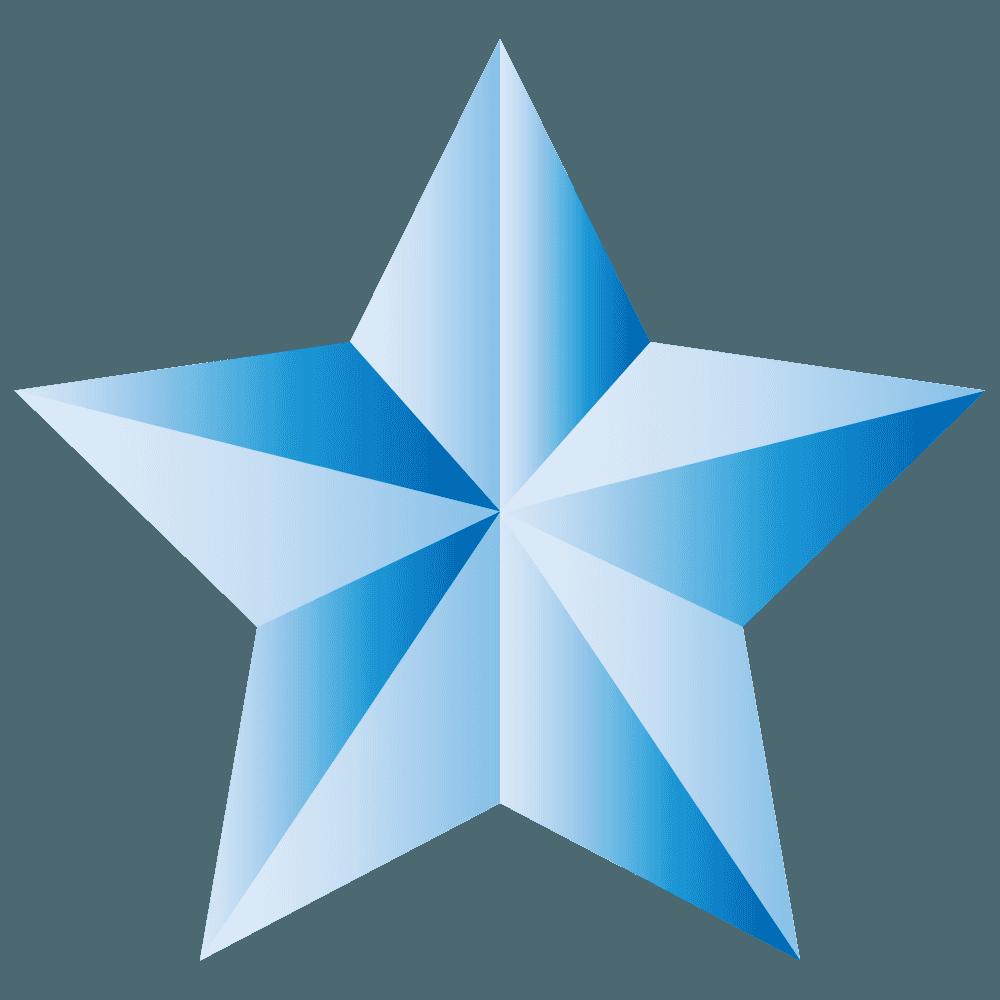 青いかっこいい星イラスト