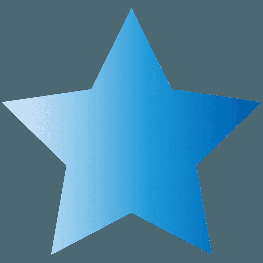 青い星イラスト