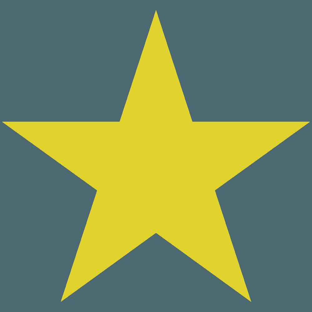普通の黄色い星の図形のイラスト