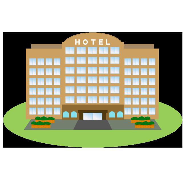 大きなホテルのイラスト