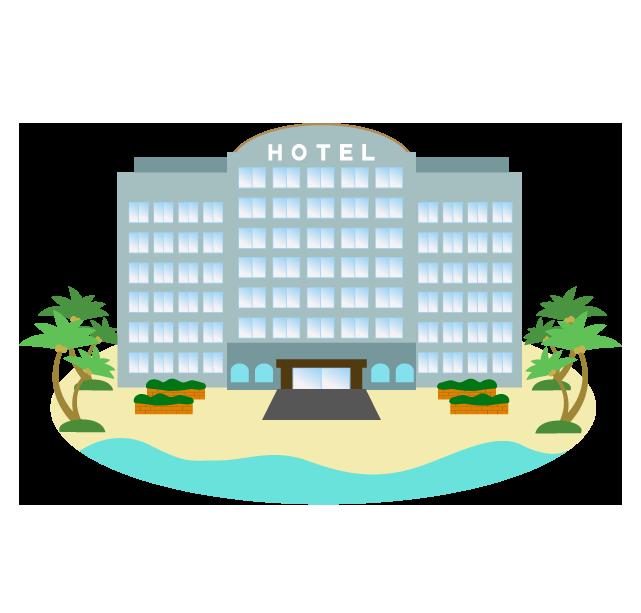 リゾートのホテルのイラスト