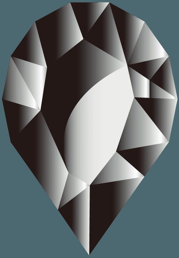 オニキス宝石イラスト