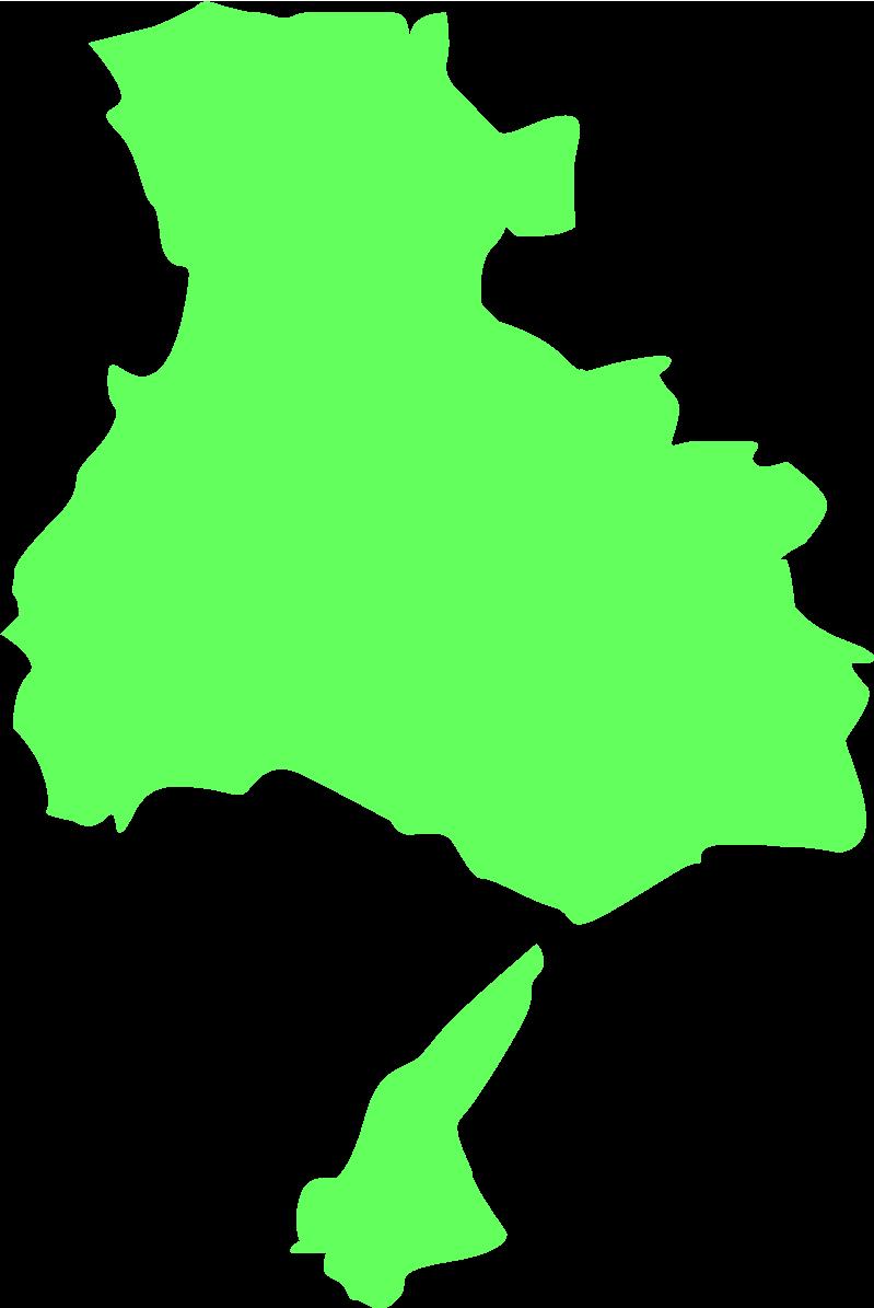 兵庫の地図・大陸図のイラスト