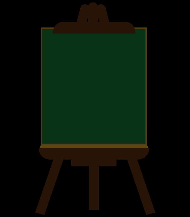 黒板の縦長イーゼルのイラスト